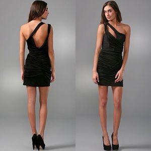 Foley + Corinna Ruched One Shoulder Dress S